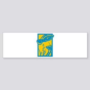 Underwater Fish Bumper Sticker