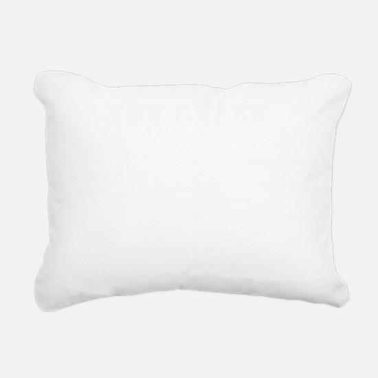 Zombie Survival Rules Rectangular Canvas Pillow