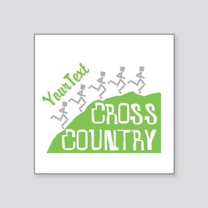 Customize Cross Country Runners Sticker