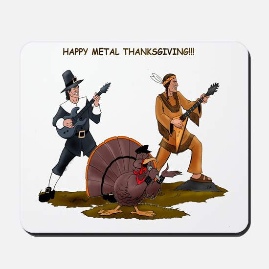 Heavy Metal Thanksgiving Mousepad