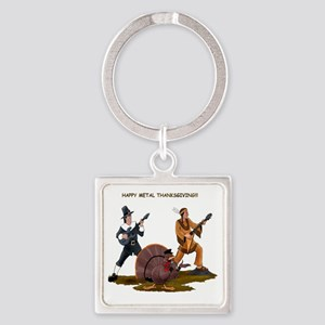 Heavy Metal Thanksgiving Square Keychain