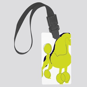 Poodle Pop Art dog Large Luggage Tag