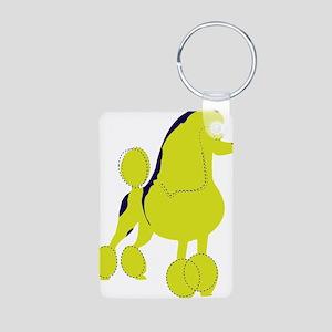Poodle Pop Art dog Aluminum Photo Keychain