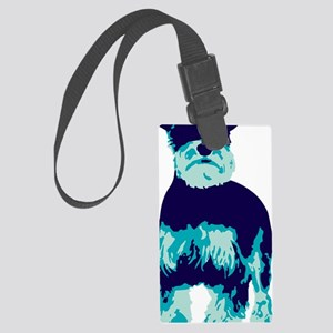 Schnauzer Pop Art dog Large Luggage Tag