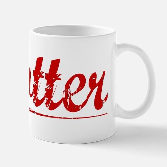 Kotter, Vintage Red Mug