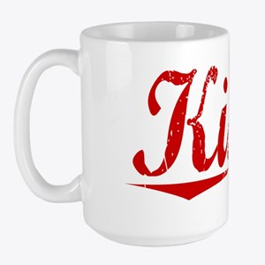 Kiser, Vintage Red Large Mug