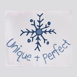 Unique Snowflake Throw Blanket