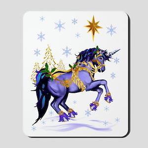 Bright Christmas Unicorn Mousepad