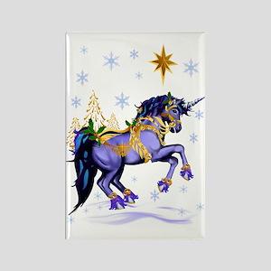 Bright Christmas Unicorn Rectangle Magnet