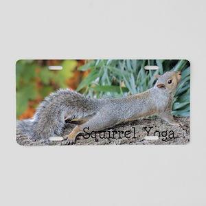 Squirrel Yoga 11550 H Aluminum License Plate