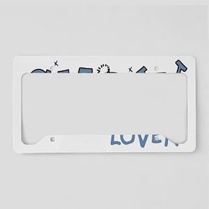 Snow Lover License Plate Holder