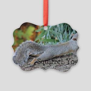 Squirrel Yoga 11550 H Picture Ornament