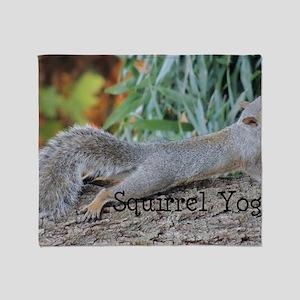 Squirrel Yoga 11550 H Throw Blanket