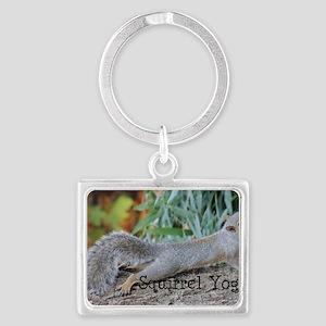 Squirrel Yoga 11550 H Landscape Keychain
