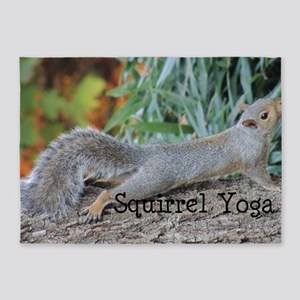 Squirrel Yoga 11550 H 5'x7'Area Rug