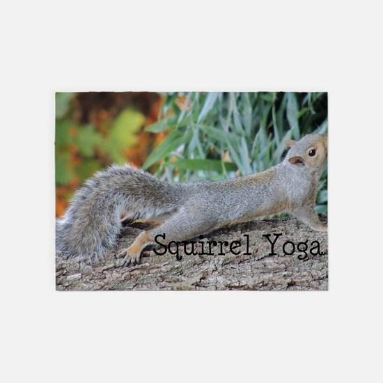 Squirrel Yoga 11550 H 5'x7'Area Rug