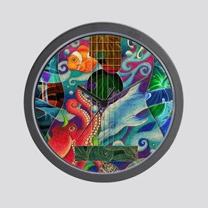 Ocean guitar Wall Clock