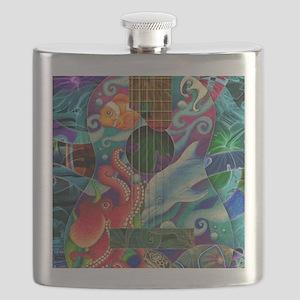 Ocean guitar Flask