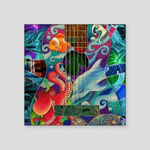 "Ocean guitar Square Sticker 3"" x 3"""