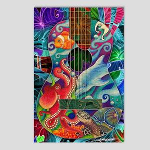 Ocean guitar Postcards (Package of 8)