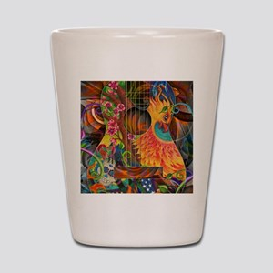Phoenix Bird of Fire Guitar Shot Glass