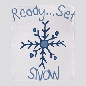 Ready Set Snow Throw Blanket