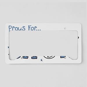 Prays For Snow License Plate Holder