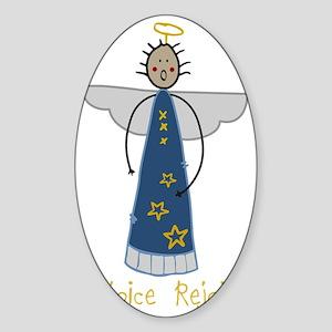 Rejoice Angel Sticker (Oval)