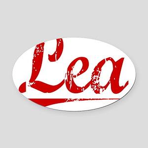 Lea, Vintage Red Oval Car Magnet