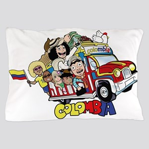 Colombian Chiva Pillow Case