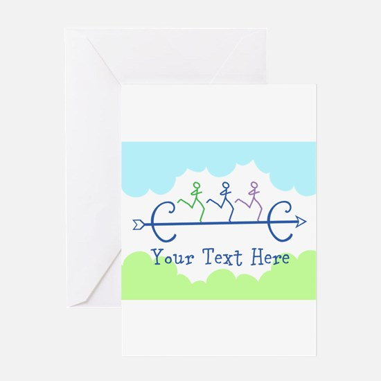 CUSTOMIZE Cross Country Running Greeting Cards