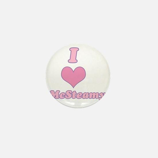 I Heart McSteamy Mini Button