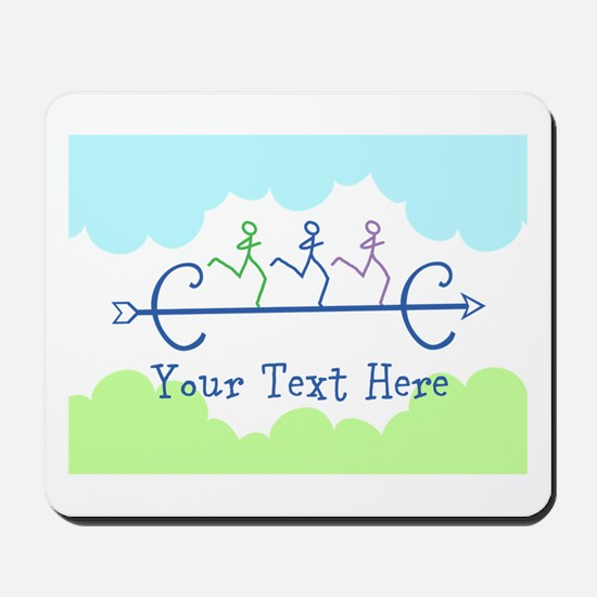 CUSTOMIZE Cross Country Running Mousepad