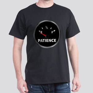 Out of Patience Fuel Gauge Dark T-Shirt