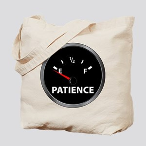 Out of Patience Fuel Gauge Tote Bag