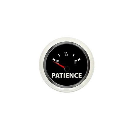 Out of Patience Fuel Gauge Mini Button