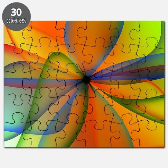 Orange Swirl Flower Puzzle
