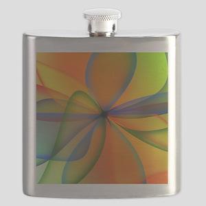 Orange Swirl Flower Flask