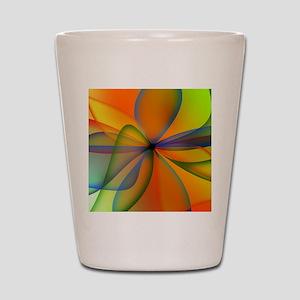 Orange Swirl Flower Shot Glass