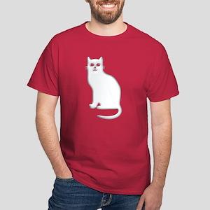 White Cat Dark T-Shirt