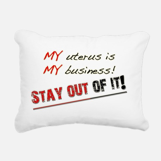 my uterusblack Rectangular Canvas Pillow