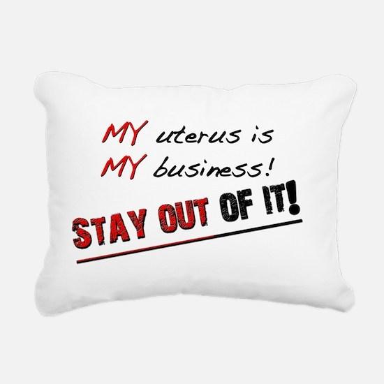 my uterusfor light Rectangular Canvas Pillow