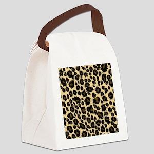 Leopard Print Canvas Lunch Bag