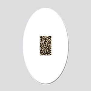 Leopard Fur Print 20x12 Oval Wall Decal