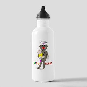 NICU Nurse sock monkey Stainless Water Bottle 1.0L