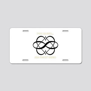 Poly As Hell Aluminum License Plate