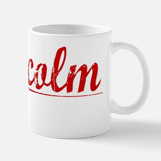 Malcolm, Vintage Red Mug