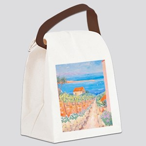 Mediterranean painting Canvas Lunch Bag