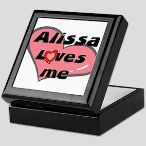 alissa loves me Keepsake Box