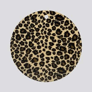 Leopard Print Round Ornament
